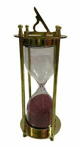 cheap sales shinny brass decorative sand timer