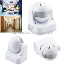White Outdoor 180 Degree Security Pir Motion Movement Sensor Detector Switch K9