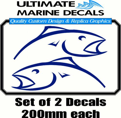 Toolbox Tackle Box Sticker Berkley Blue Mirrored Fish 200mm Decal
