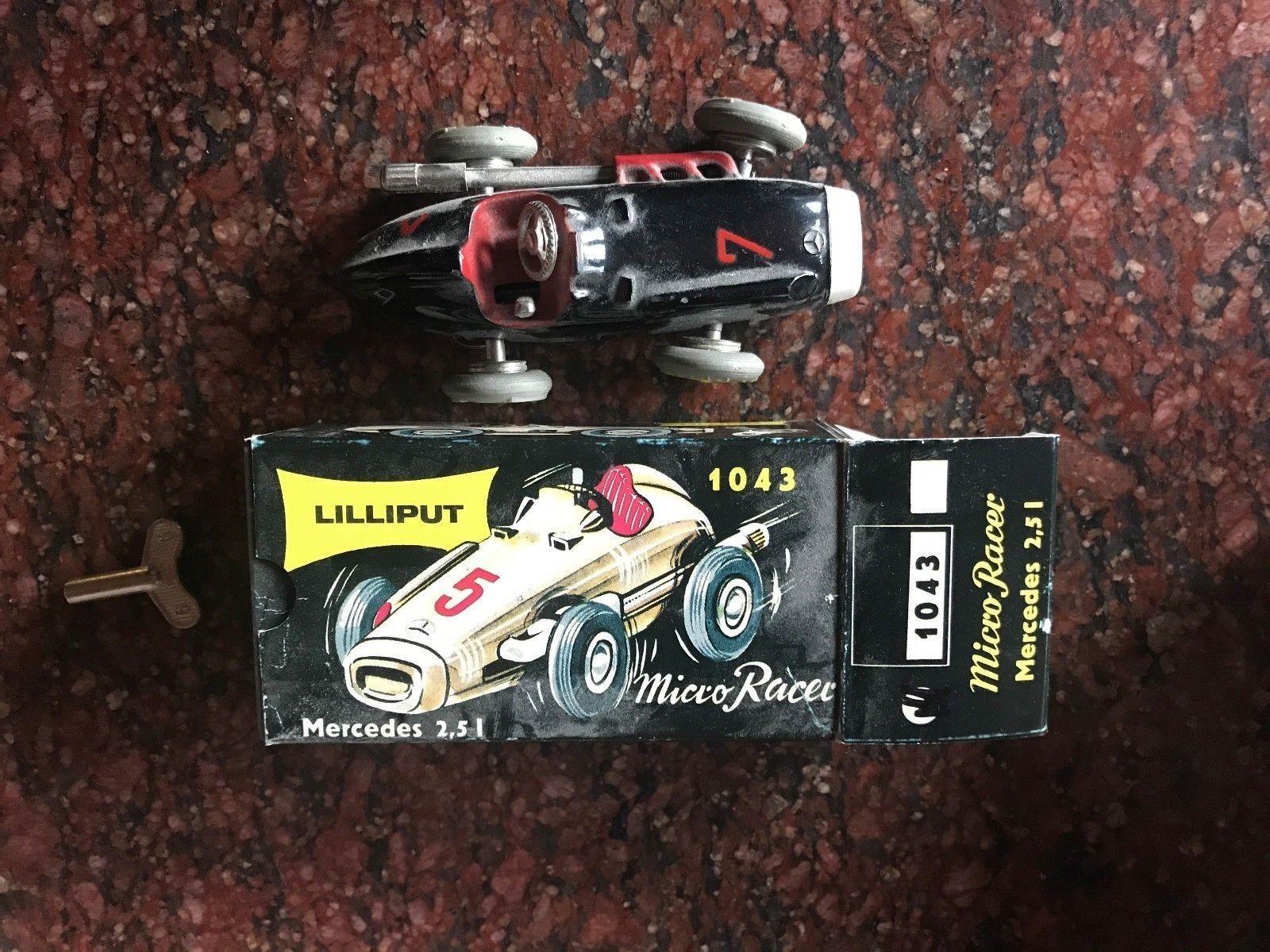 Lilliput 1043 MICRO RACER mercedes 2,5 I rapide voiture noir avec Rouge Détail Neuf