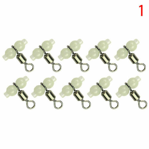 10Pc 3 Wege Angeln Luminous Angeln Rollen Schwenker Anschluss X1H8 I6X9 L4V8