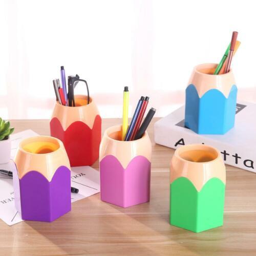5pcs Mini Pencil Pen Pot Holder Storage Makeup Vase Stationery Cup Brush Box