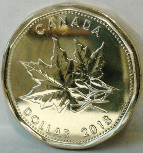 2018 CANADA UNC SPECIMEN /'MAPLE LEAF/' ONE DOLLAR Coin