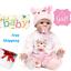 "NPK 16/"" 40cm bebe realista reborn doll lifelike girl reborn babies silicone"