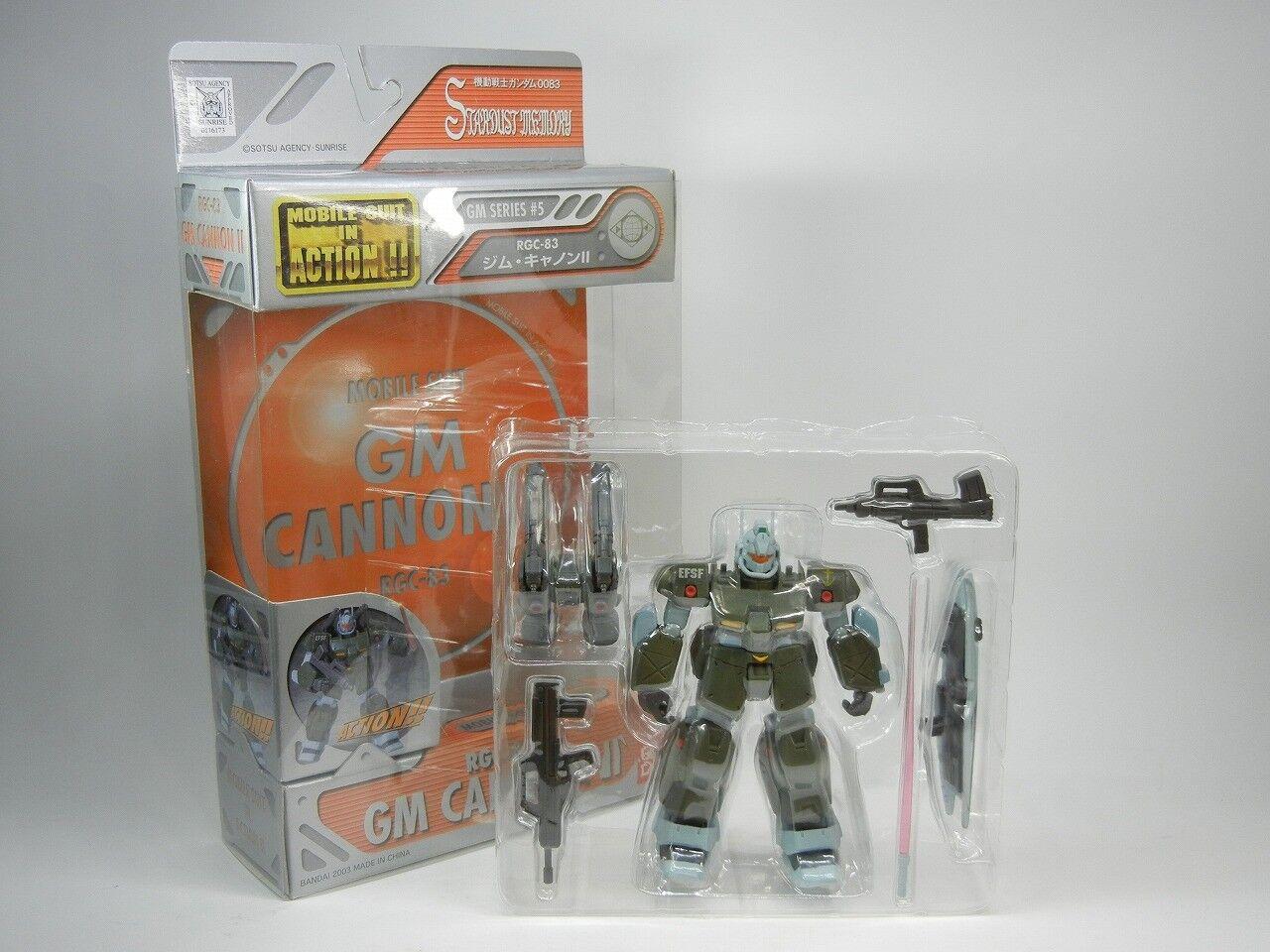 MSIA Gundam 0083  RGC-83 GM GM GM Cannon Ⅱ Japan ver.  Figure Bandai   OP b4c139