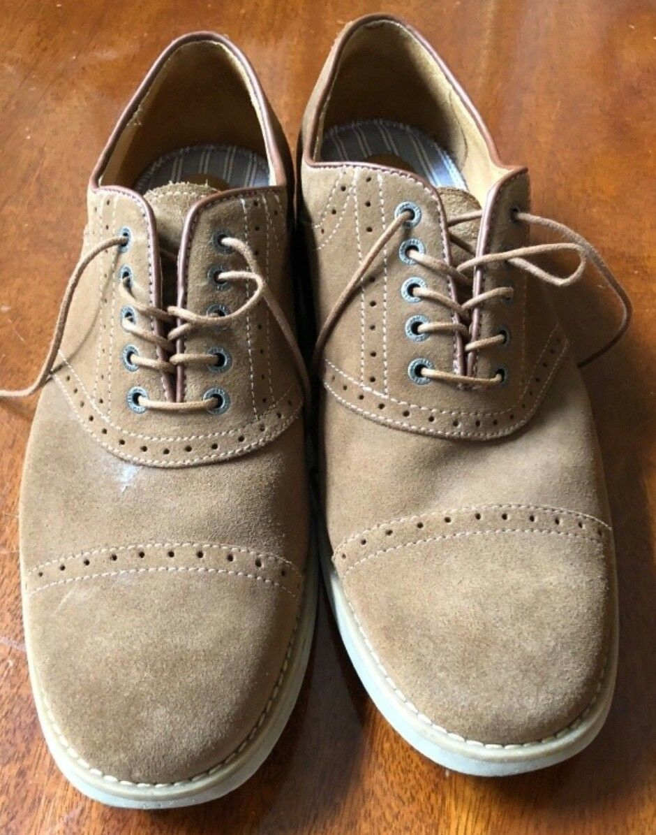 Johnston & Murphy Brown Suede Men's Size 11M Oxford Shoes