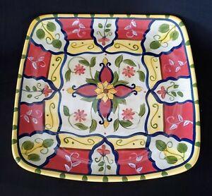 Pier-1-VALLARTA-Square-Serving-Platter-Ceramic-13-1-8-034