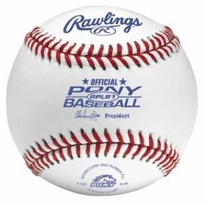 Rawlings® RPLB1 Pony League Baseballs (1 Dozen)