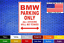 BMW-Parking-Only-8-034-x12-034-American-White-Aluminum-Sign-Choose-Color-Novelty-Buy thumbnail 1