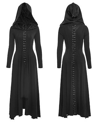Punk Rave Gothic Occult Goth Bagira Coat Dress Fantasy Over-dress Corset Lacing