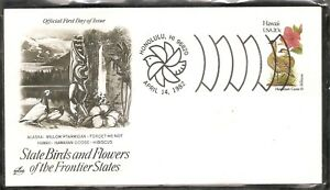 US-SC-1963-State-Birds-And-Flowers-Hawaii-FDC-Artcraft-Cachet