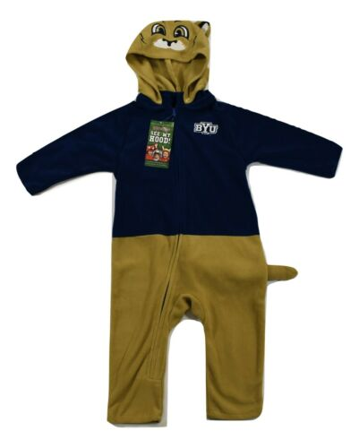 Mascotwear BYU Cougars Hooded Infant-Toddler Costume Outfit Pajamas New