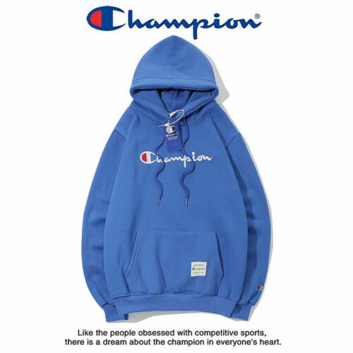 Fashion Blue Logo Classic Women Men/'s Hoodie Embroidered Hooded Sweater Outwear