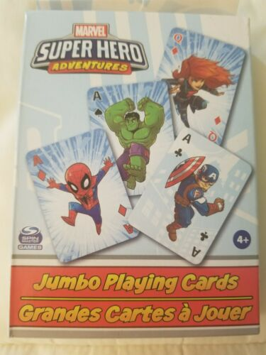 Avengers Spiderman NEW Details about  /Marvel Super Hero Adventures Jumbo Playing Cards