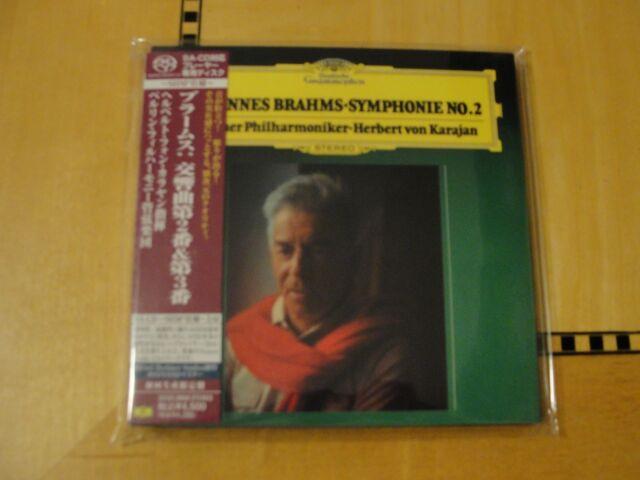 Brahms - Symphony No  2 - Karajan Berlin - SHM-SACD Super Audio CD Japan  SACD