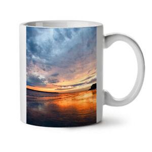 Deep Sea Sunset NEW White Tea Coffee Mug 11 oz | Wellcoda