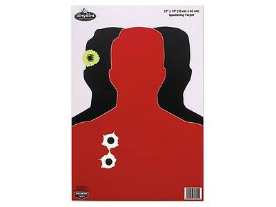Birchwood Casey Dirty Bird Blue//Orange Silhouette Target 8 Pack