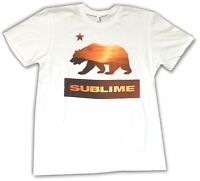 Sublime Bear California Sunset Image White T Shirt Official Soft