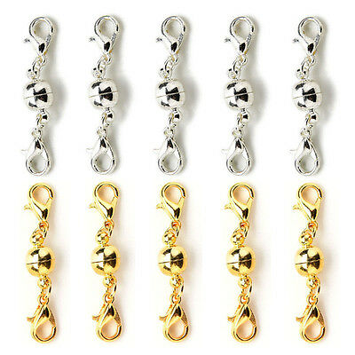 10Pcs Magnetic Clasps Strong Silver Gold Plated For Necklace Jewelry Making HGGU
