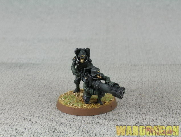 Forgeworld WDS painted Death Korps of Krieg Engineers with Mole Launcher e16