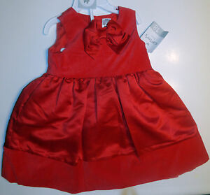 31f8127a19d3 Baby Girl Carter s Christmas Red Velvet   Satin Dress Set Size 18 ...
