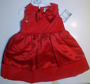 Carter 039 s christmas red velvet amp satin dress set size 18 months