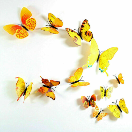 12pcs 3D Butterfly Wall Stickers Art Decals Home All Room KID Rooms Decorations