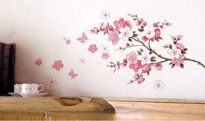 Removable-Peach-Blossom-DIY-Flower-Wall-Sticker-Decal-Mural-Room-Decor-45cm-60cm