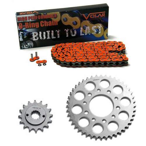 Orange 1989-2007 Honda Shadow VLX 600 VT600C O-Ring Chain and Sprocket Kit