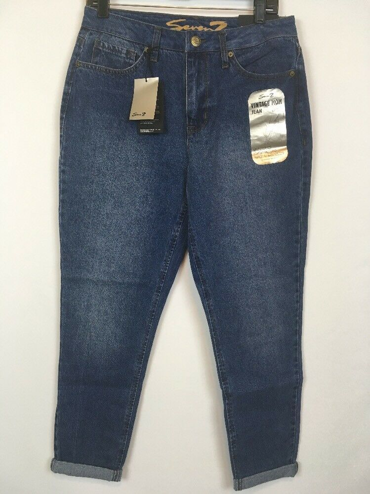 Seven7 Womens Vintage Mom Jeans Tapered Skinny Gentle Stretch Size 10 New A1015