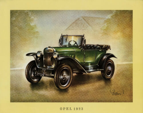 Opel 1923 Poster Oldtimer 37,5x30,5 cm Oldtimerposter Autoposter Auto PKWs ARAL