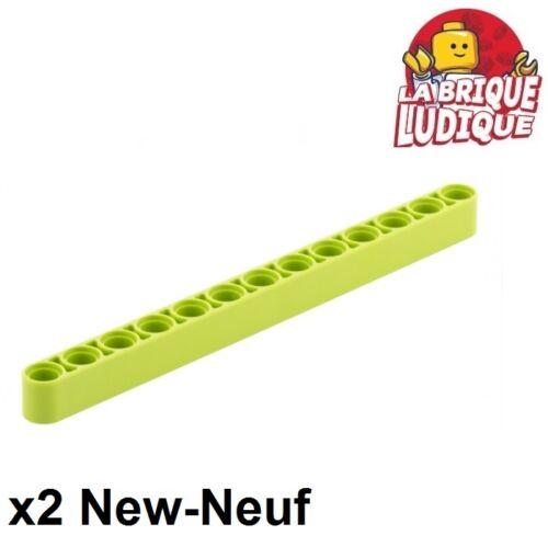 Lego Technic 2x Liftarm 1x13 thick épais vert citron//lime 41239 NEUF