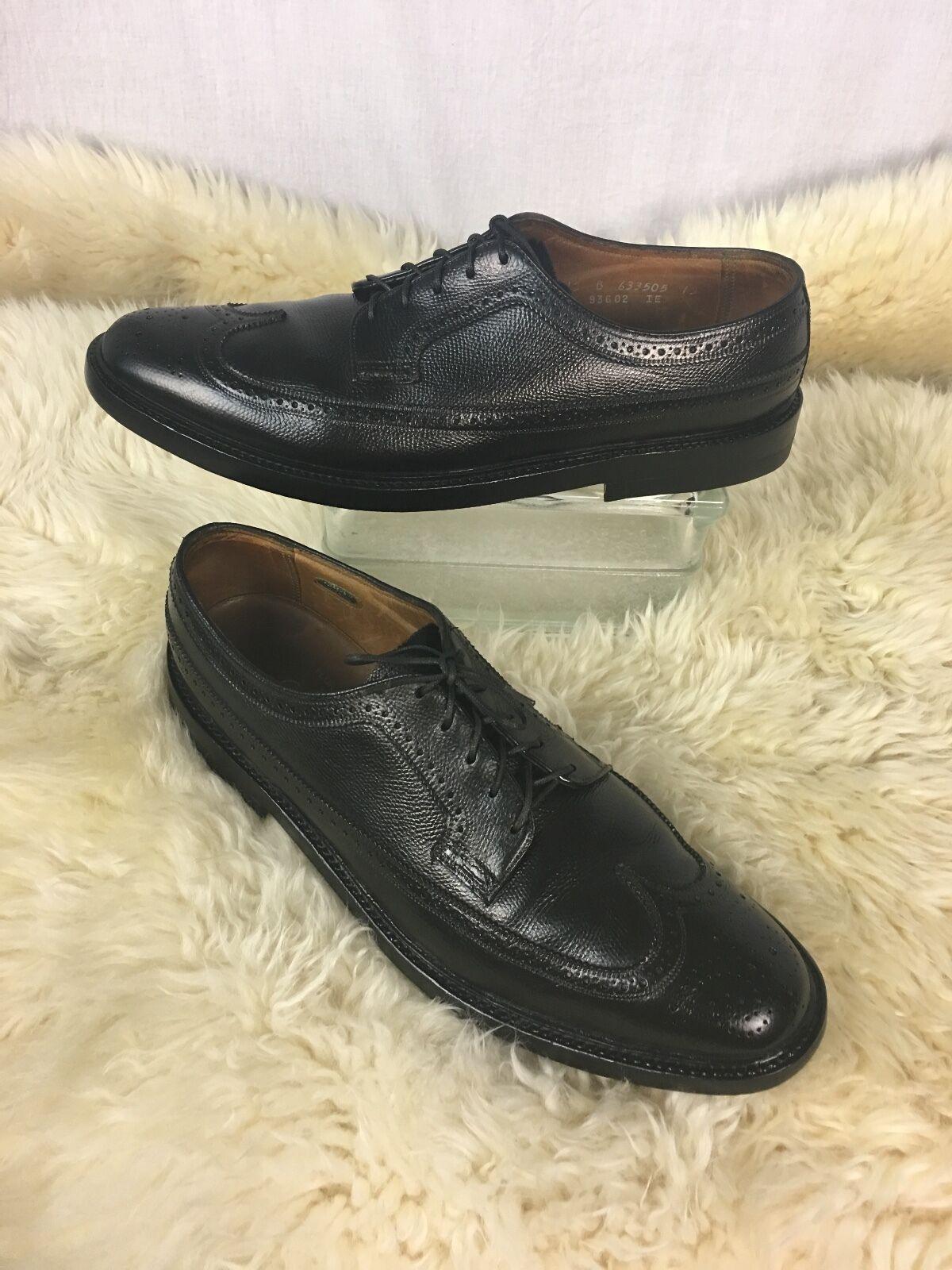 Florsheim ROYAL IMPERIAL  5 Nail V-Cale  Bout D'Aile Chaussures Oxford Noir 12B