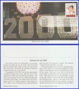US-3369-U-A-MYSTIC-FDC-Year-2000-Stamp