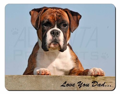Boxer Dog Pup /'Love You Dad/' Computer Mouse Mat Christmas Gift Idea DAD-164M