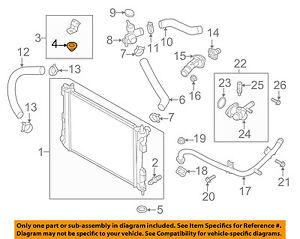 Upper Radiator Insulator Mount OEM For Hyundai 253351P000