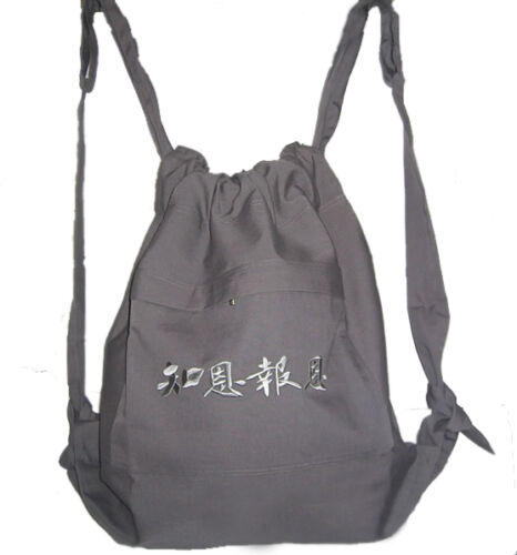 kungfuworld high quality Buddhist Bag Monk Backpack with Embroidery