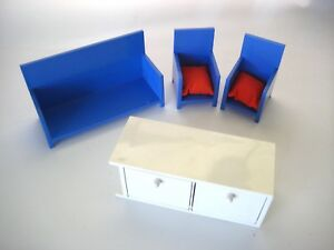 Ikea Red Credenza : Lot ikea modern doll furniture couch chairs red pillows