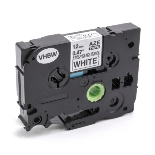 bianco per BROTHER P-T h101c h101lb Carattere CARTUCCIA a nastro 12mm NERO h101gb