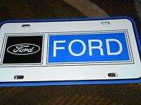 1960s Ford Dealership Mustang Fairlane Galaxie Falcon Dealer Logo License Plate