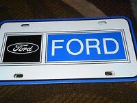 1950's 1960's 1970's Ford Dealership Dealer Promo Sign Logo License Plate