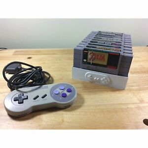 Super Nintendo SNES Cartridge Stand Dust Protector Sleeve Holds 9 Game Cartridge