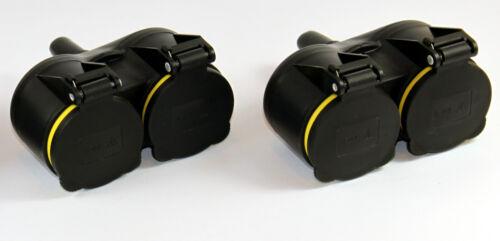 caoutchouc double 8 pièces prise électrique raccord 220V IP44 schutzkon Cadence