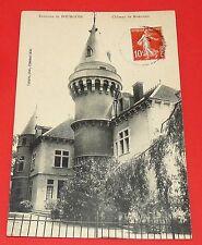 CPA CARTE POSTALE 1913 ENVIRONS BOURGOIN CHATEAU MONTCEAU ISERE RHONE ALPES