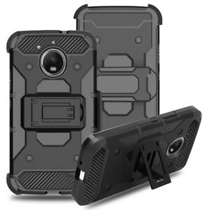 For-Motorola-Moto-E4-Plus-Rugged-Hard-Armor-Stand-Cover-Shockproof-Holster-Case