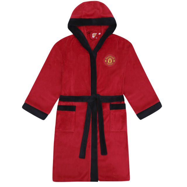 Mens Official Arsenal Football Club Fleece Dressing Gown//Robe Size Small Medium Large XL