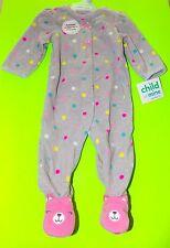 adc2e3272 Carters Child of Mine Fleece Sleeper 3t Pink Teddy Bears Footed ...