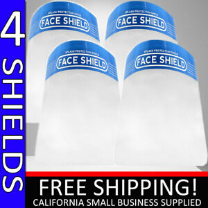 SAFETY FACE SHIELD CLEAR 4 PC PROOF ANTI FOG PROTECTOR WORK INDUSTRY FULL FACE