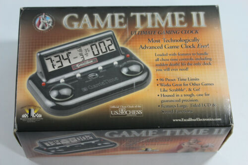 Excalibur Game Time II Ultimate Chess Gaming Clock Tested and Working