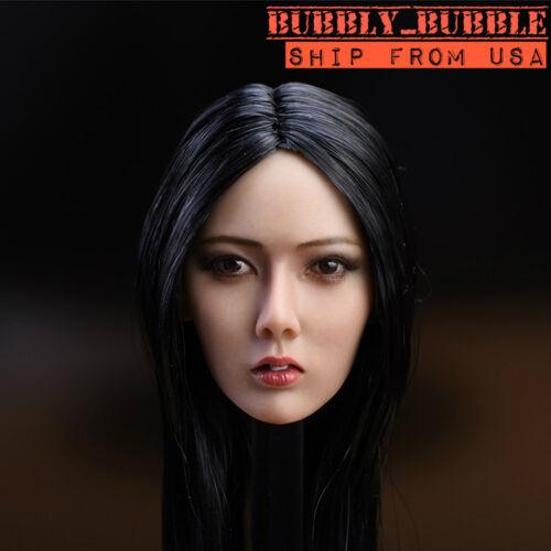 1//6 Asian Beauty Head Sculpt Long Hair For PHICEN SUNTAN Figure SHIP FROM USA